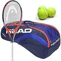 Head Radical MP GrapheneタッチMidplus 16x 19テニスラケットセットまたはキットセットまたはキットバンドルwith aテニスバッグ、(1) Can 3のテニスボール