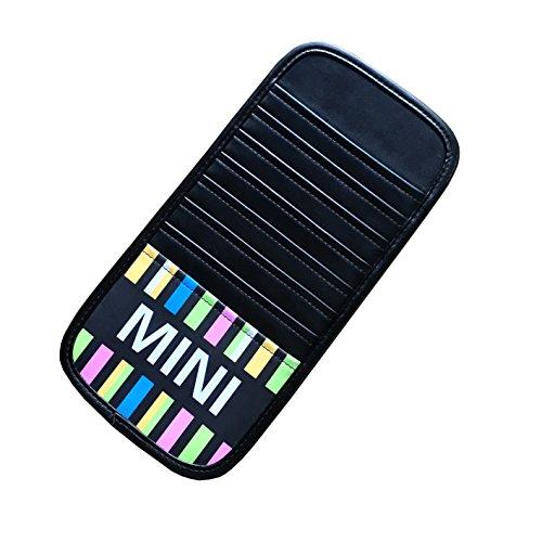 【SLOWHAND】 BMW MINI クーパー用 サンバイザー CD カードホルダー (MINIロゴデザイン)