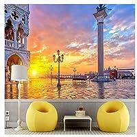 ヨーロッパの美しい街の風景 - 不織布アートプリント壁の壁画装飾ポスター写真モダンデザイン290cm(W)×220cm(H)
