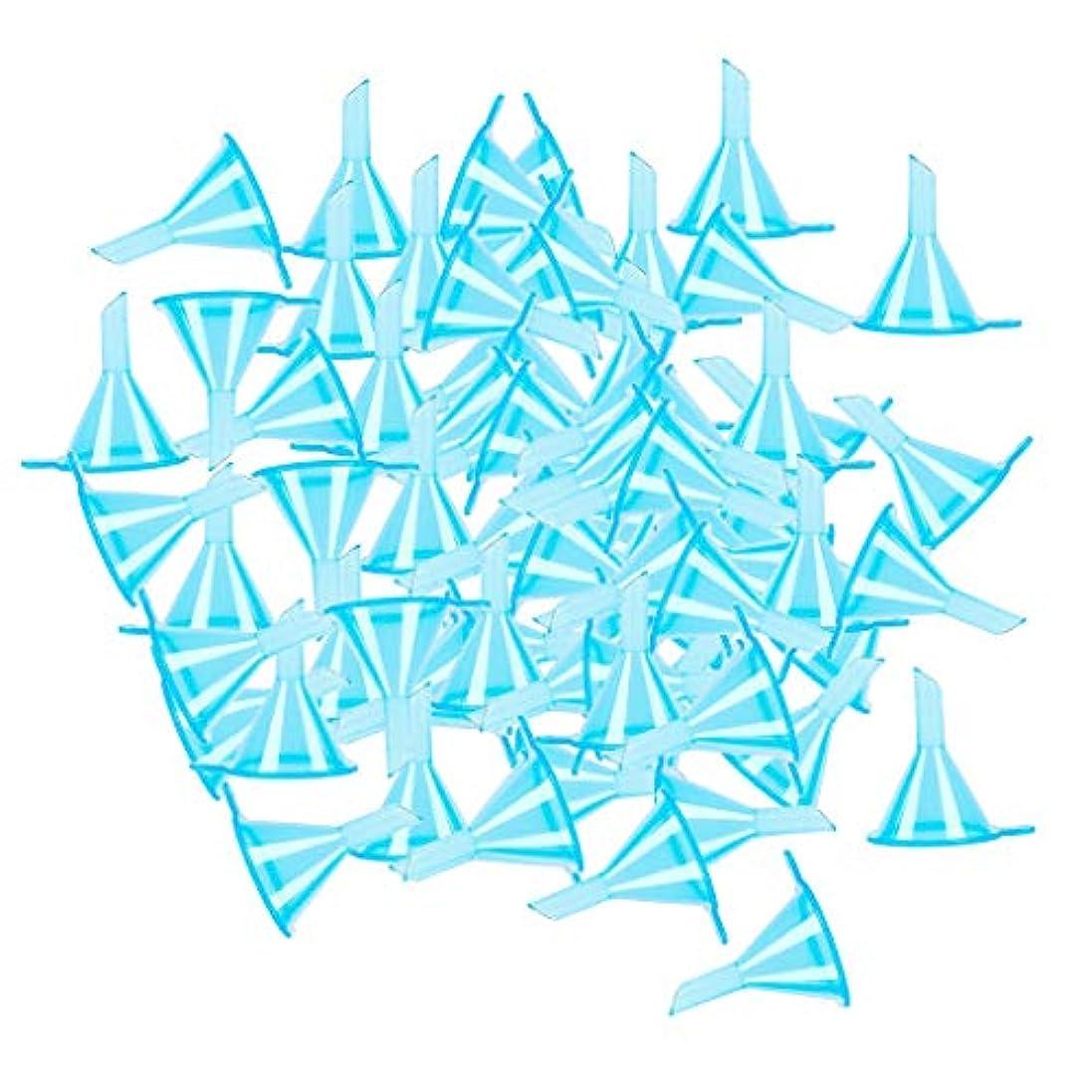 矛盾コンサート地質学100個入り 小分けツール ミニ ファンネル エッセンシャルオイル 液体 香水用 全3色 - ブルー