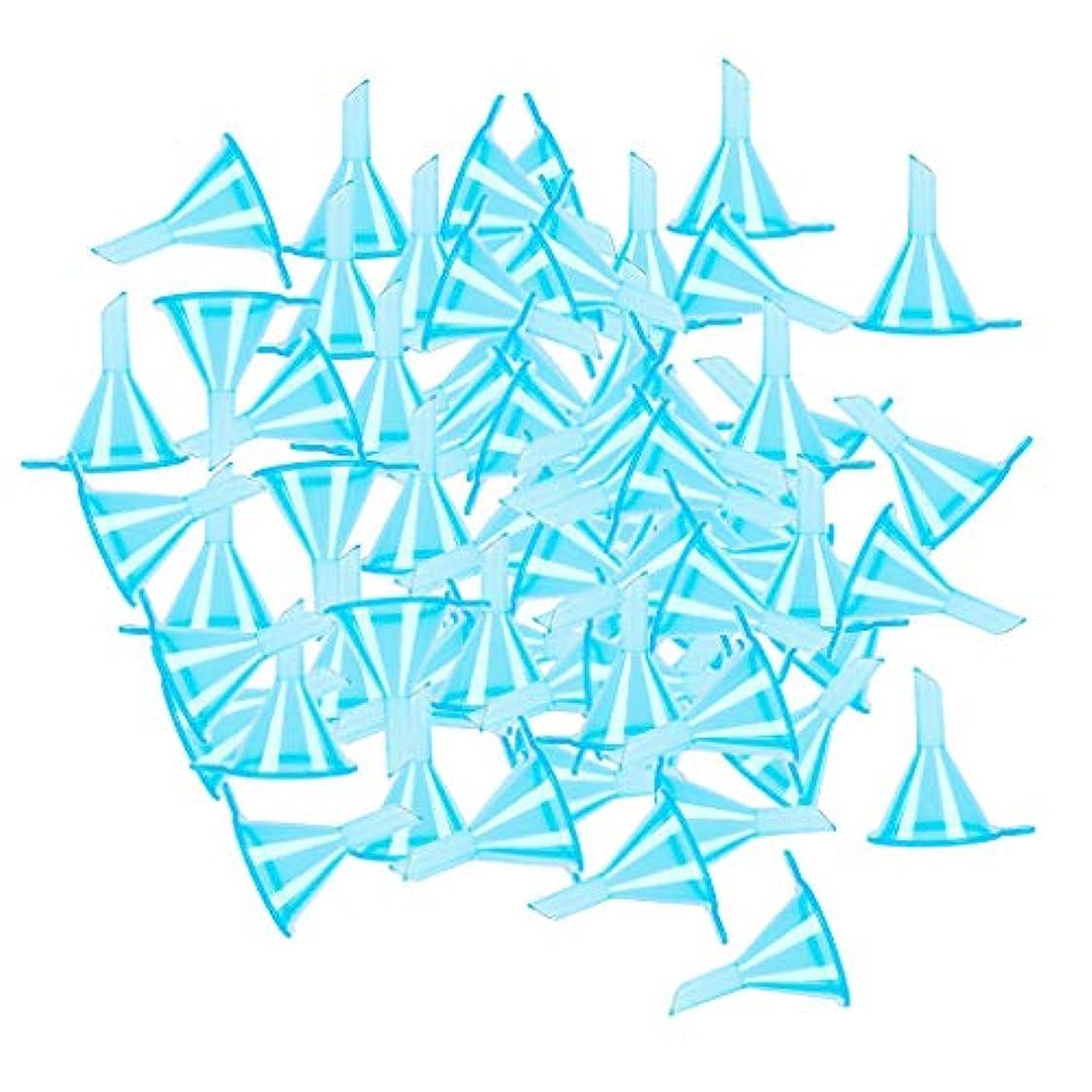 着る灌漑甘くする100個入り 小分けツール ミニ ファンネル エッセンシャルオイル 液体 香水用 全3色 - ブルー