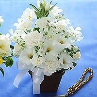 お供え 花 アレンジメント『AA』弔電 家族葬の花 フラワー 生花 供花 16時〆即日発送可能(日曜除く),白(49日までは白が無難です)