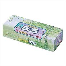 驚異の防臭袋 BOS (ボス) LLサイズ 60枚入り 大人用 おむつ ・ うんち 処理袋 【袋カラー:ホワイト】