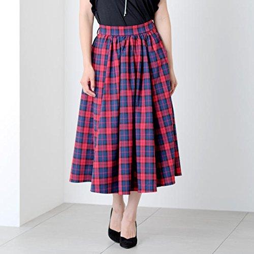 ミューズ リファインド クローズ(MEW'S REFINED CLOTHES) リボン付チェックミモレ