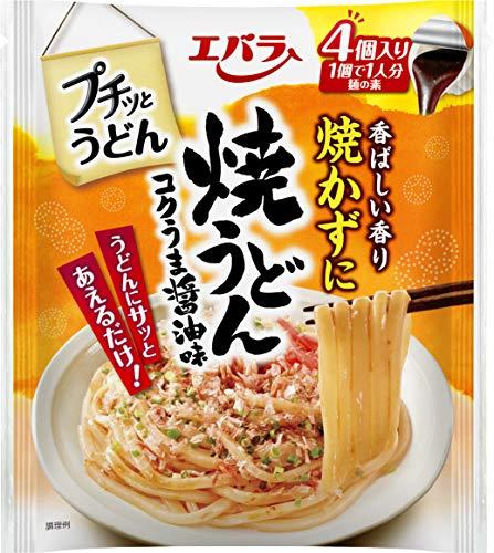 エバラ プチッとうどん 焼うどんコクうま醤油味 (22g×4個) ×4袋