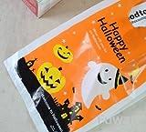 【Fuwari】 ハロウィン 袋 ラッピング 手提げ 小袋 ビニール袋 100枚 キャンディ お菓子 クッキー チョコレート  包装袋 小分け  プレゼント用