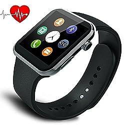 スマートウォッチ 日本語対応 多機能腕時計 スポーツ時計の心拍数 Bluetooth4.0 高精細HD iPhone &Androidスマートフォン対応日本のパンフレット