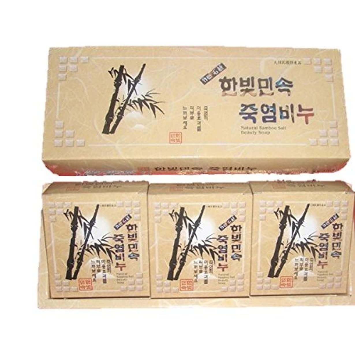 ドループ債権者罰(韓国ブランド) 竹塩石鹸 (3個×3セット)