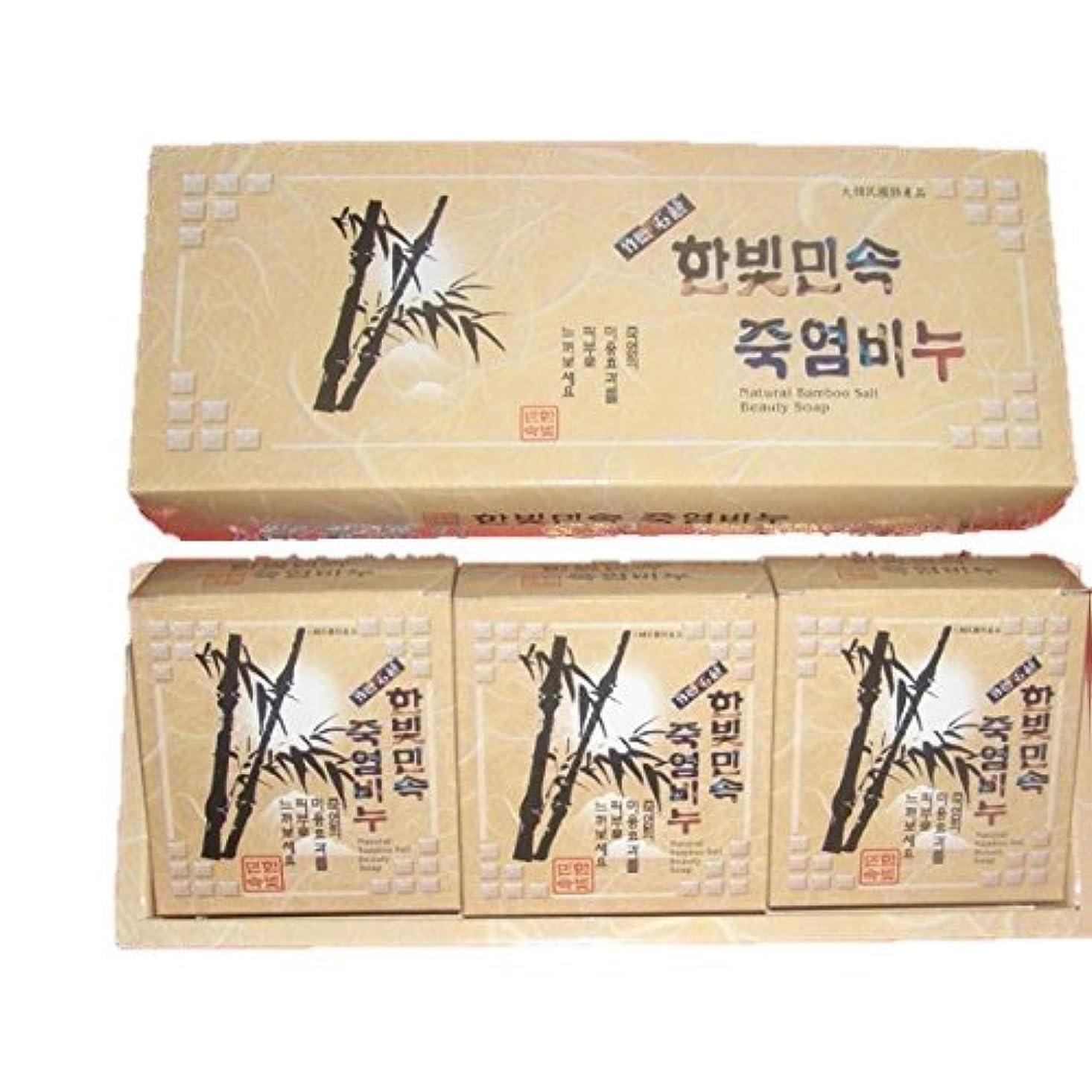 を通して許容義務づける(韓国ブランド) 竹塩石鹸 (3個×3セット)