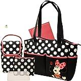 ディズニー [Disney]  ミニーマウス 5-in-1 マザーズバッグ セット Disney - Minnie 5-in-1 Diaper Bag Set 【並行輸入品】