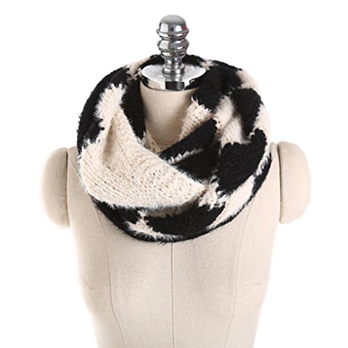 Goenn Women Men knit snood scarf large format scarf Fluffy autumn and winter warm neck warmer autumn and winter elegant soft small face warmth cable knitted Cyber Monday