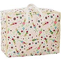 綿のリネン収納袋の漫画のパターン高品質のポータブル防湿旅行オーガナイザーの羽毛布団の衣服移動仕上げ荷物の収納袋 (サイズ さいず : 55 * 45 * 29cm)