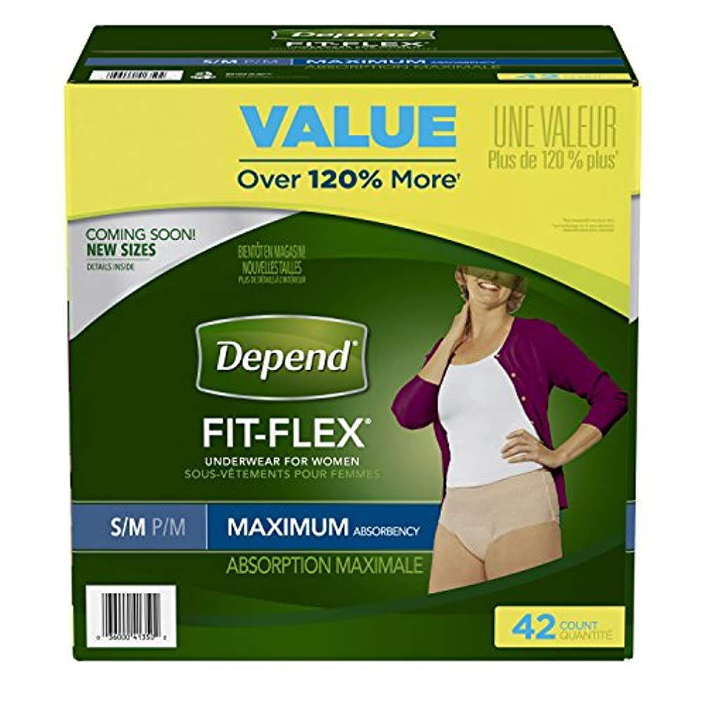 不健全工夫する光景Depend Incontinence Maximum Absorbency Protective Underwear for Women, Small/Medium, 42 Count by Depend