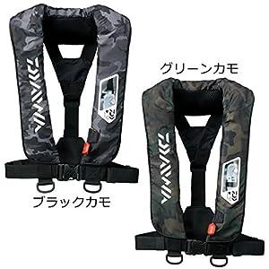 ダイワ(Daiwa) ライフジャケット ウォッシャブル 肩掛けタイプ手動・自動膨脹式 ブラックカモ フリー DF-2007