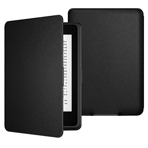 ATiC Amazon NEW-Kindle Paperwhite専用スーパー軽量薄型ケース (オートスリープ機能付き 2012/ 2013/ 2015/2016/マンガモデル適応) BLACK