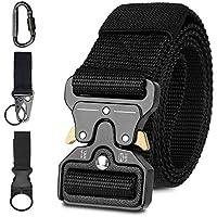 Tactical Belt, TERSLEY Men Military Style Adjustable Nylon Belt with Quick Release Metal Cobra Buckle Ideal for Equipment Belt, Daily Belt, Work Belt, Everyday Carry Belt