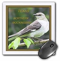 3drose LLC 8x 8x 0.25インチTexas State鳥マネシツグミパターンマウスパッド( MP _ 50948_ 1)