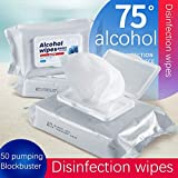 XMDD 75% rubbing alcohol disinfection, disposable hand wipes bacterial skin cleansing wipes disinfect toys alcohol cotton piece 50