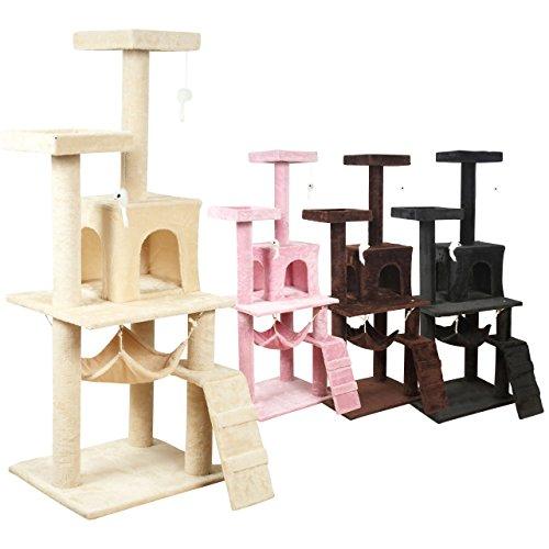 【フルモデルチェンジ/HGモデル】キャットタワー 150cm ハンモック付 据え置き ブラック