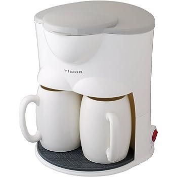 ピエリア コーヒーメーカー 2カップ ドリップ式 ホワイト CMR-50B WH