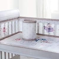 通気性メッシュ ベッドガード, クラッシュ バンパー 赤ちゃんを防ぎます 差出人 立ち往生 で ベビーベッド スラット-A