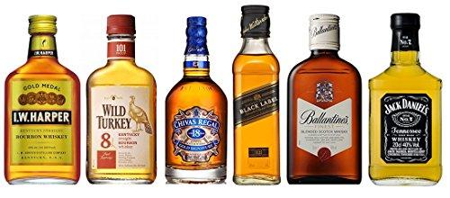 輸入ウイスキー ベビーボトル 飲み比べ6本セット 180ml