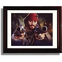 サイン入りジョニー・デップレプリカ印刷–Pirates of the Caribbean