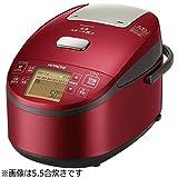 日立 圧力スチームIHジャー炊飯器(1升炊き) メタリックレッドHITACHI 圧力スチーム炊き ふっくら御膳 RZ-AV180M-R