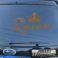 クイーンクラウンゴールドシルバーホワイトブラックデカールステッカー車ビニールPickサイズカラーDie Cut 40'' (101.6cm) ブラック 20180301s5
