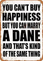 Shimaier 壁の装飾 メタルサイン Marry A Dane ウォールアート バー カフェ 縦30×横40cm ヴィンテージ風 メタルプレート ブリキ 看板
