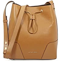 Michael Kors Cary Medium Pebbled Leather Bucket Bag- Acorn