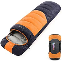 Tooge 寝袋 コンパクト 軽量 シュラフ 左右連結2人用 防水加工 丸洗い 収納袋付き 登山 車内泊 キャンプ 防災