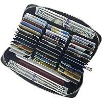 カードケース 長財布 FRid スキミング防止 革 蛇腹式 大容量 多機能収納 携帯電話/現金/チケット/パスポート/クレジットカード収納