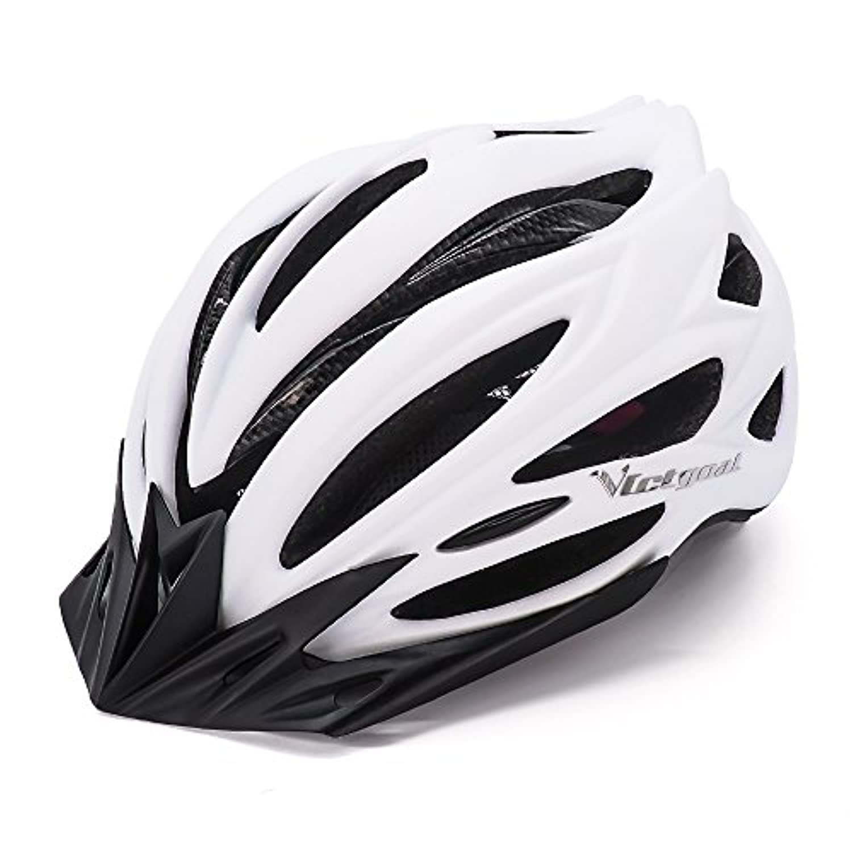 VICTGOAL 自転車 ヘルメット大人用 ロードバイク/サイクリング ヘルメット 超軽量 高剛性 LEDライト?男女兼用 ヘルメット通気 サイズ調整可能 57-61CM M/L
