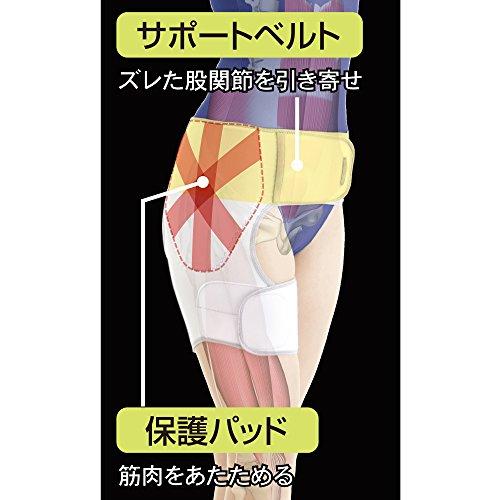 アルファックス お医者さんのがっちり股関節ベルト M〜Lサイズ 右足用 1枚入