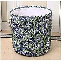 DCAH ストレージバスケットファブリックは、洗濯バケツのストレージの統合バスケットのストレージバケツ大容量の洗濯バスケット Laundry basket (色 : 青)