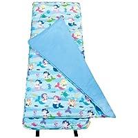 Now in UK!! Wildkin Kids Nap Mat/Slumber Bag/Sleeping Bag (Olive Kids Mermaids) by Wildkin