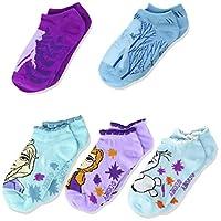 Disney Girls' Frozen 5 Pack No Show Socks