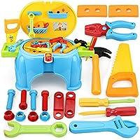 おままごと 大工さん ツールセット ごっこセット ホームツール箱 整備工具セット(多機能ツールスツール)