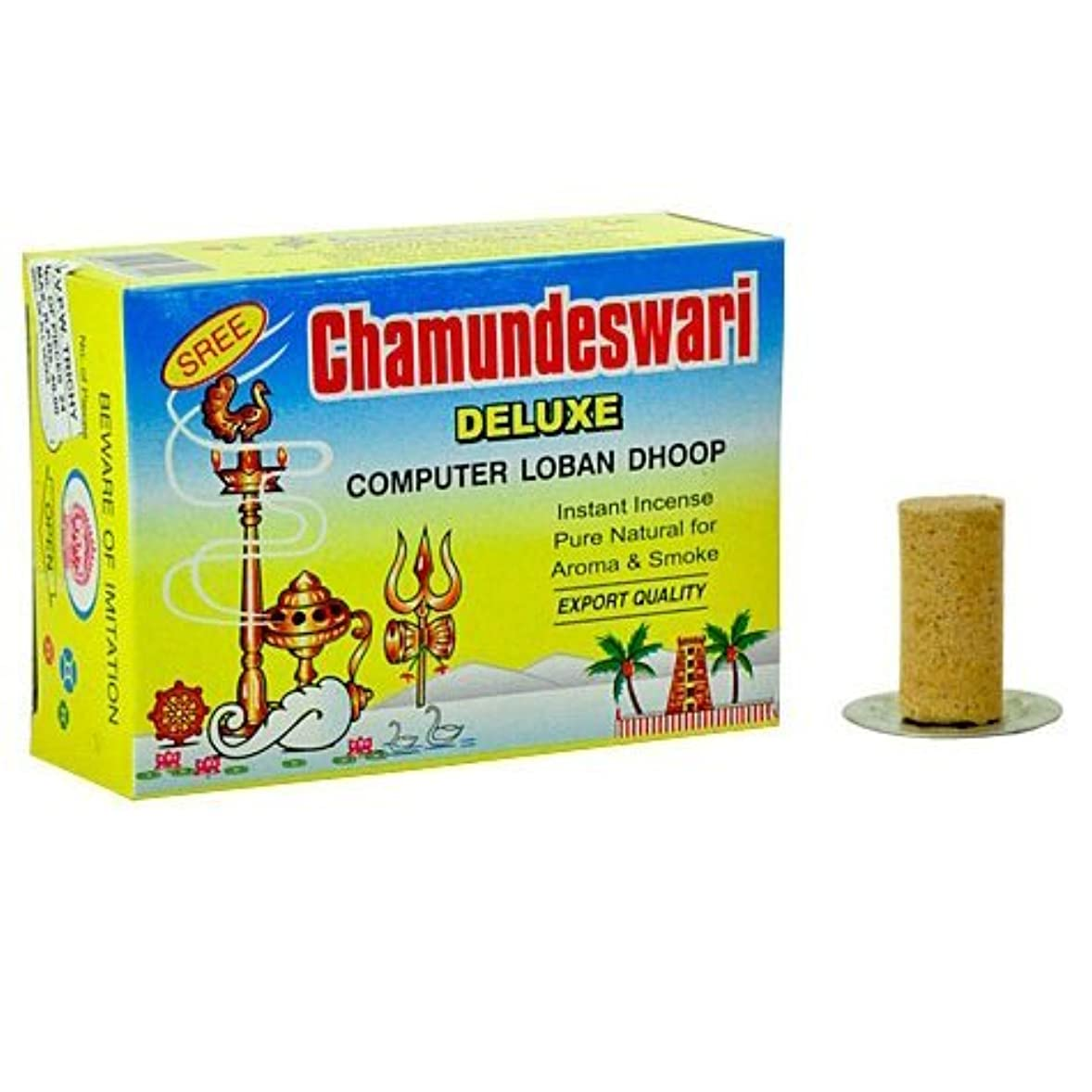 彼はテーブル活気づくSree ChamundeswariデラックスコンピュータSambrani Loban Dhoop、1.5