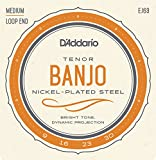 D'Addario ダダリオ テナーバンジョー弦 ニッケル Medium 4弦 .009-.030 EJ63 【国内正規品】