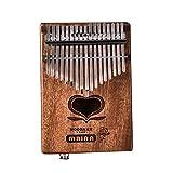 親指のピアノ17キーカリンバマホガニーフィンガーピアノ 子供大人音楽愛好家に適用