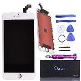 SZRSTH iPhone6 Plus 5.5インチ 修理用交換用 LCD フロントパネル 液晶パネル ガラス デジタイザー 工具セットが付属 (ホワイト/white)
