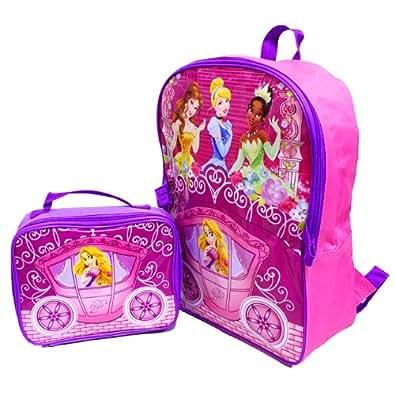 """[ディズニー]Disney Princess Back Pack""""B""""/プリンセス ランチバッグ付 デイパック""""B"""" リュック"""