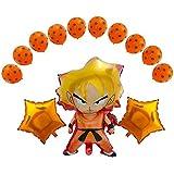Ultra Rare Balloons ドラゴンボールZバルーン 13個パック 誕生日お祝いバルーンセット DBZ スーパーサイヤ人悟空 悟空 キャラクターパーティーデコレーション