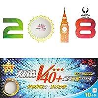 10ピース/セットダブルフィッシュV40 + 3スター40ミリメートルホワイト卓球ボールabsプラスチックシームボールトレーニングピンポンボール(ホワイト)