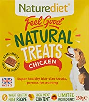 Naturediet ND-FGTR601 Feel Good Chicken Dog Treats 150g