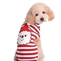 SKYDUE ペット服 犬服 クリスマス サンタクロース セーター ニット 防寒 暖かい ドッグウェア かわいい 秋冬服 小型犬