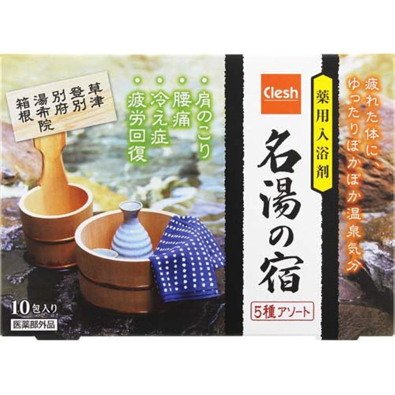 木材タフマーチャンダイジングClesh(クレシュ) 薬用入浴剤 名湯の宿 5種アソート 10包