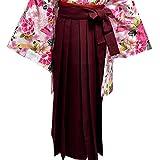 袴 女性レディース無地袴はかま 4サイズ5色/S(87cm) エンジ